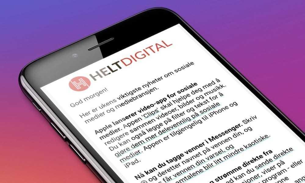 63e1cd3af Gratis nyhetsbrev om sosiale medier og mediebransjen