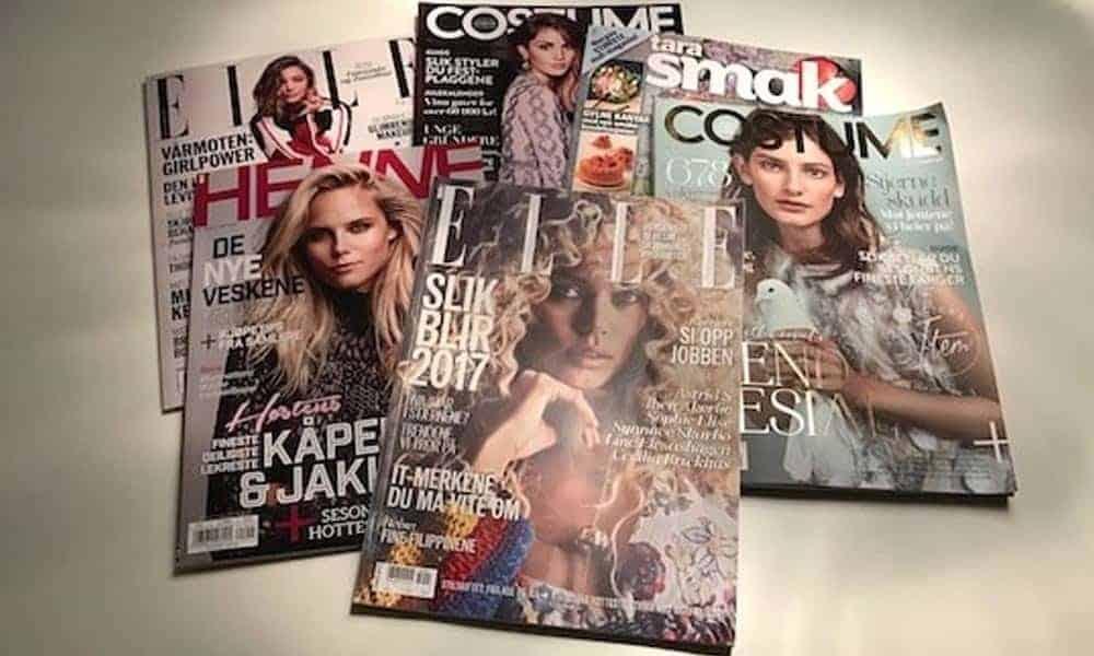 Kvinnemagasinene stuper i opplag.