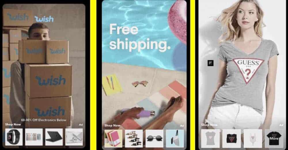 Snapchat ruller ut Snap Collection Ads i Norge i løpet av oktober. Illustrasjon: Snap Inc.
