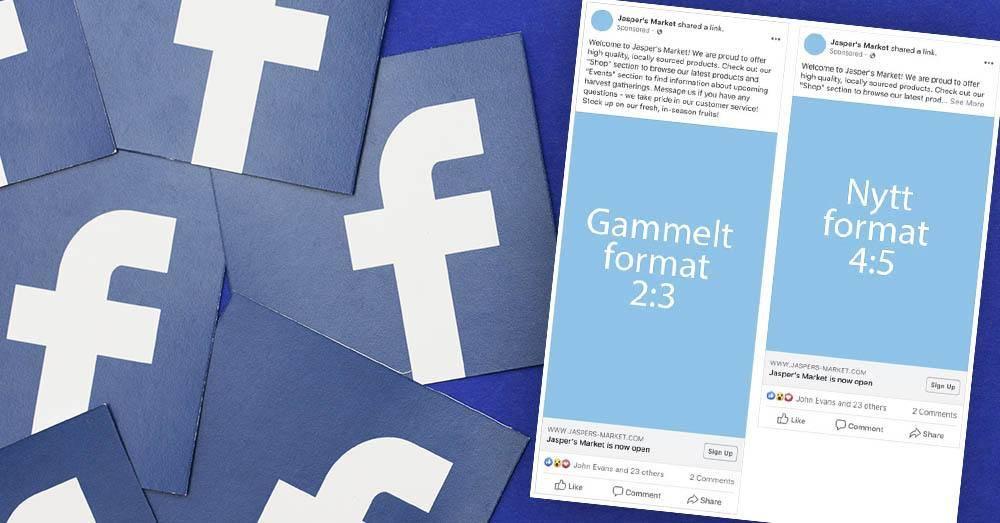 Facebook endrer størrelse på bilder og tekst i nyhetsfeeder. Illustrasjon: Shutterstock/Helt Digital/Facebook