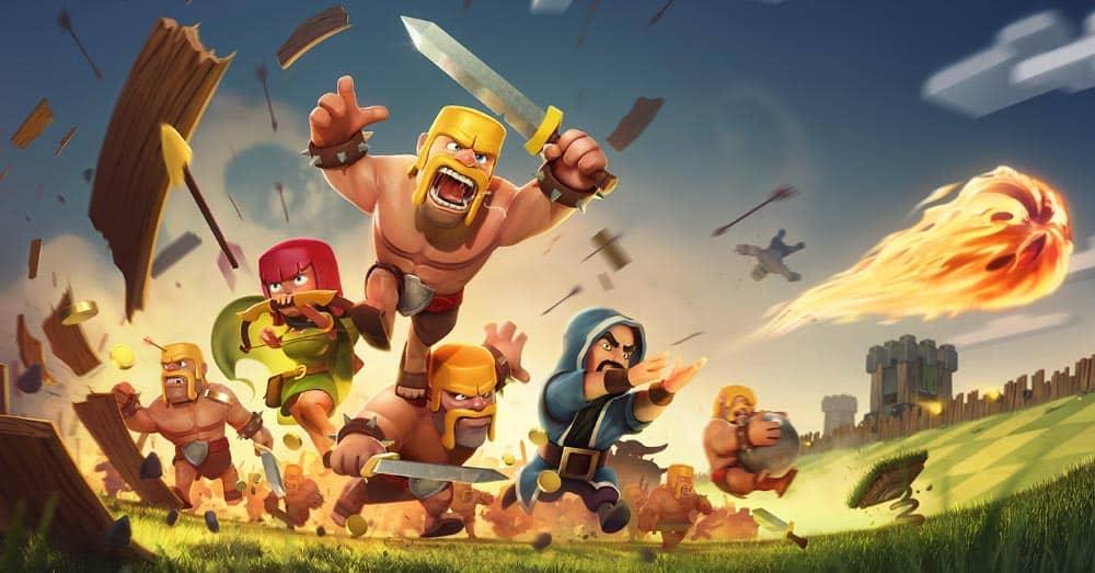 Et av de mest populære spillene på mobil er strategispillet Clash of Clans. 74 prosent av alle penger vi bruker på apper, brukes på spill-apper. Foto: Supercell