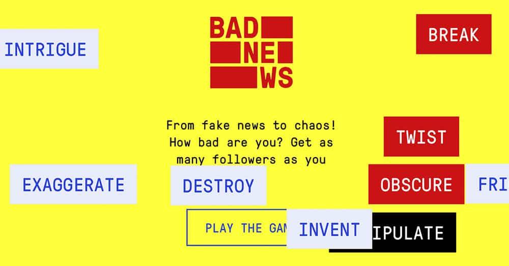 Forskere ved Cambridge University har utviklet et dataspill for å undersøke effekten på brukerne. I spillet skal brukerne skape falske nyheter, bygge seg opp tillit og virtuelle følgere for å forlede flest mulig. Spillet har fått navnet 'Bad News'
