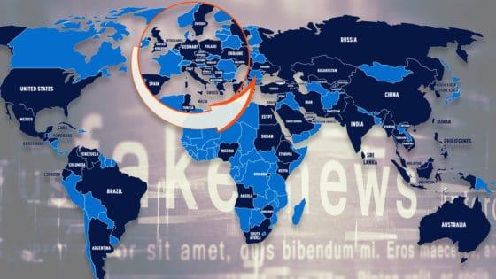 Syv land utmerker seg ved å bruke Facebook og Twitter til å spre desinformasjon globalt: Kina, India, Iran, Pakistan, Russland, Saudi Arabia og Venezuela. Illustrasjon fra rapporten/Helt Digital/Shutterstock