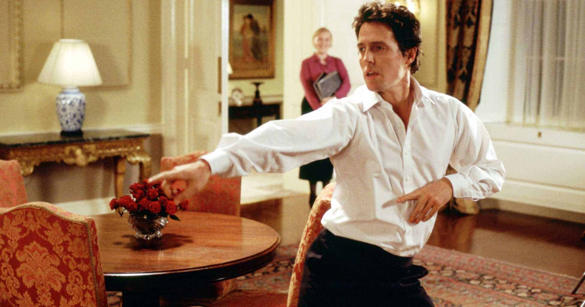 Britiske filmer dominerer strømmetjenestene utenfor Europa. Aller mest populær er Love Actually (2003) – her med Hugh Grant og Meg Wynn Owen. Foto: Fra filmen