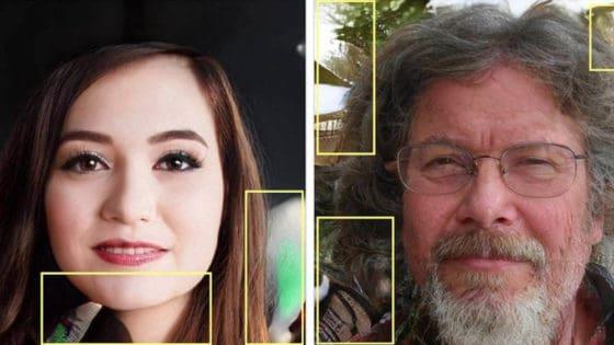 Disse profilbildene er laget ved hjelp av kunstig intelligens – og naturligvis også avslørt av kunstig intelligens, som finner uregelmessigheter i bildene. Foto: Facebook