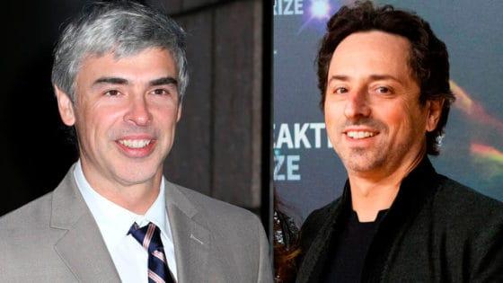 Google-grunnleggerne Larry Page (til venstre) fotografert i 2016 og Sergey Brin (2019). Foto: Drew Altizer Photography/Shutterstock