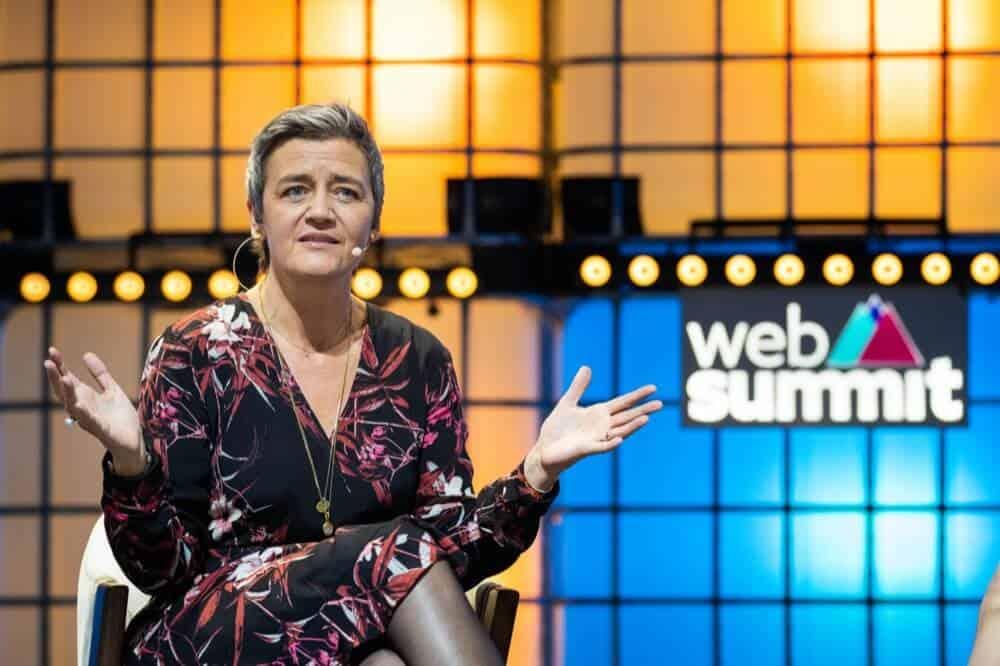 EUs visepresident, Margrethe Vestager. Her fra Web Summit i Lisboa 7. november. Foto: Henrique Casinhas/SOPA Images/Shutterstock
