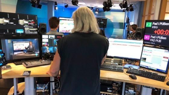 NRK dominerer på sosiale medier. Her fra TV-studio i NRK Trøndelag. Foto: Marius Karlsen/Helt Digital