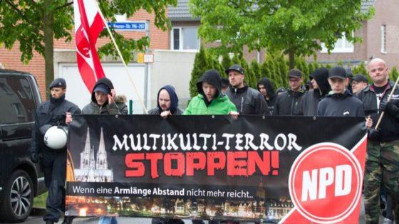 En demonstrasjon fra det nasjonalistiske partiet NPD i den tyske byen Bochum i Nordrhein-Westfalen i 2017. Foto: Shutterstock