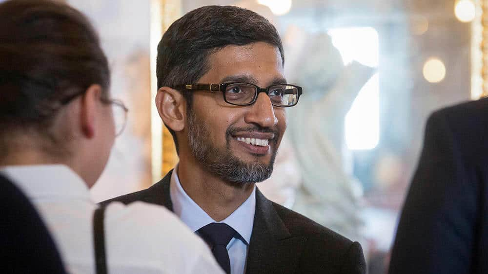 Google-sjef Sundar Pichai. Foto: Alamy Stock Photo
